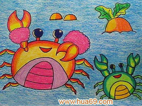 幼儿获奖蜡笔画作品大全|幼儿蜡笔画示范画图片|幼儿