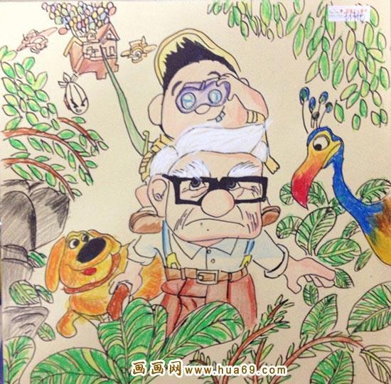 动物园 幼儿彩笔画作品