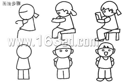 人物简笔画画法3