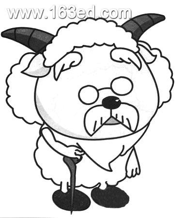 暖羊羊简笔画图片张