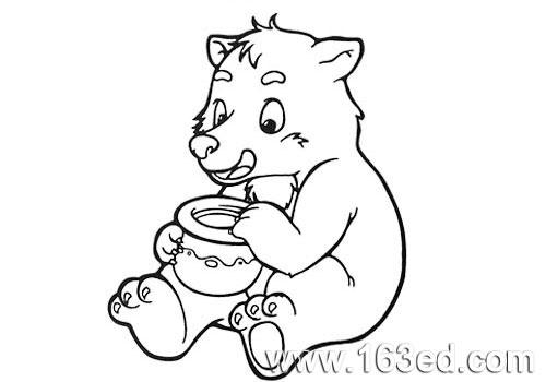 动物简笔画:小熊