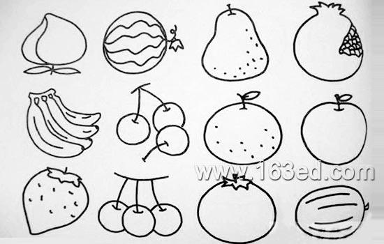 简笔画:蔬菜水果6