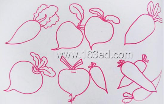 简笔画:蔬菜水果11