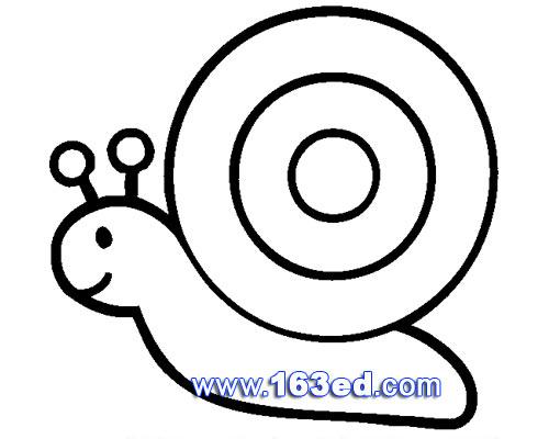 昆虫简笔画图片 蜗牛3图片