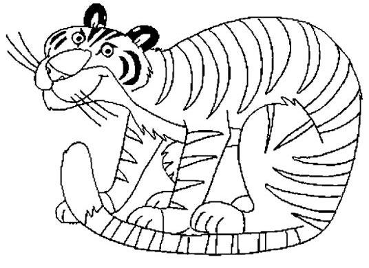 幼儿简笔画:老虎19