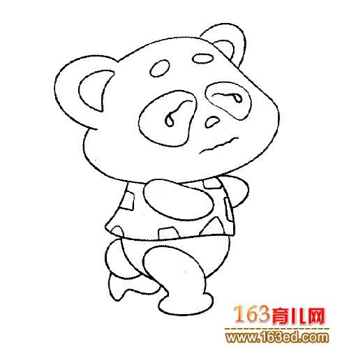 动物简笔画 流泪的大熊猫宝宝