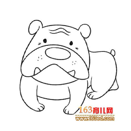 凶猛的大狗简笔画5