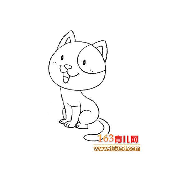 可爱的小猫简笔画8