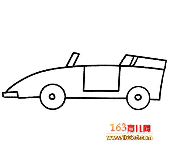 敞篷小汽车简笔画4高清图片