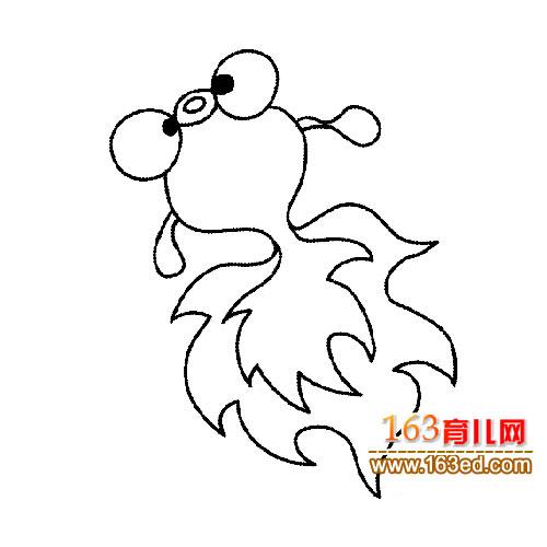 鱼类简笔画 漂亮的小金鱼4