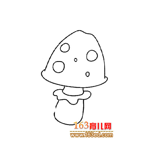 可爱的蘑菇简笔画1