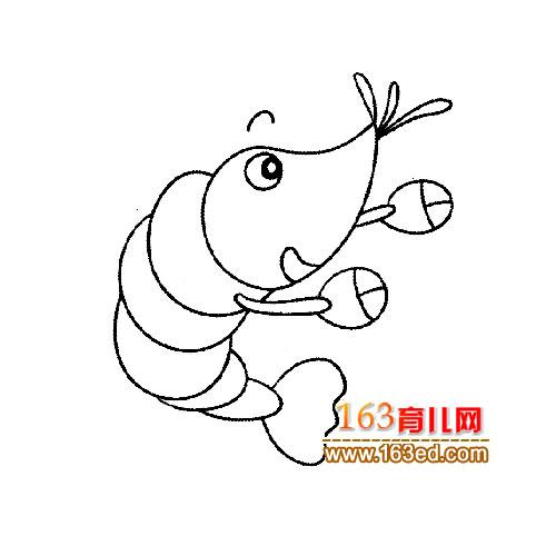 简笔画 可爱的小虾1