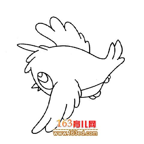 可爱的黄鹂鸟简笔画1