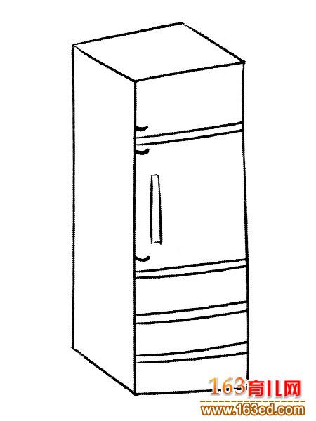 冰箱简笔画:多层冰箱3