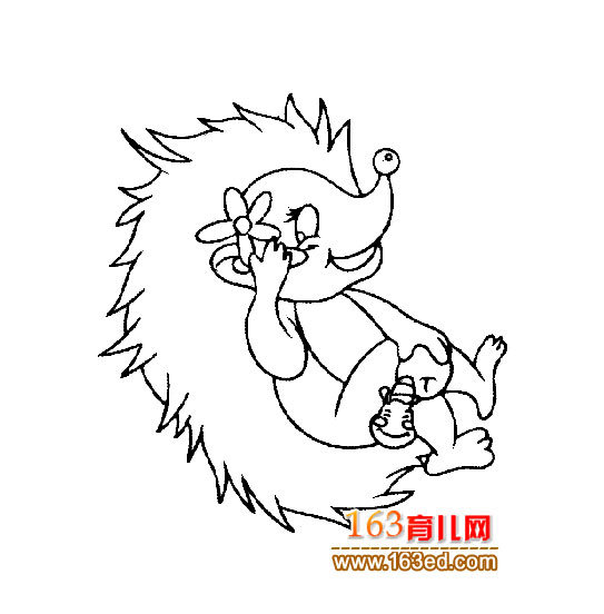 可爱的小刺猬宝宝5(简笔画)