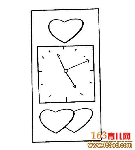 卡通闹钟(简笔画)