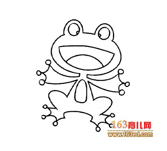 可爱的小青蛙(简笔画)