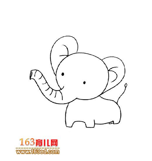 简笔画之可爱的小象