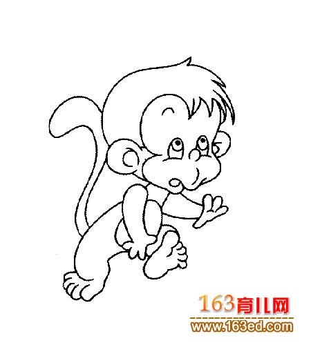 可爱的小猴子_儿童简笔画2