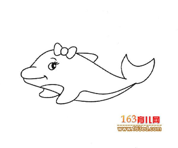 小海豚   如何学习简笔画先从临摹素描画开始,这样可以先练你的手绘能