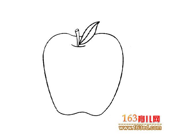 一个大苹果 儿童简笔画