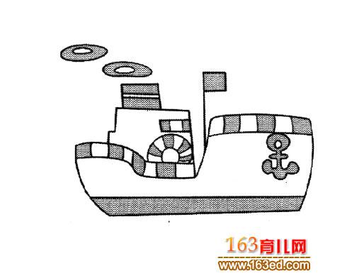 卡通船 幼儿 交通工具 简笔画 简笔画 网
