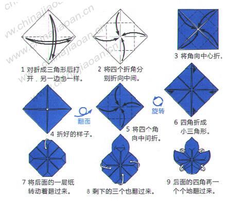 儿童折纸教程:荷花—儿童手工制作网