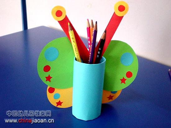 幼儿手工制作(纸艺):笔筒—儿童手工制作网