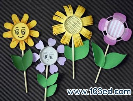 幼儿纸杯手工制作:各种花3—儿童手工制作网