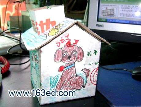 幼儿手工制作:纸盒小房子3