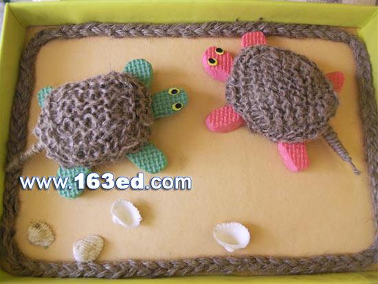 手工制作的毛线小乌龟