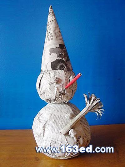 幼儿手工制作纸杯雪人,手工制作雪人怎么做,手工橡皮泥雪人图片,雪人