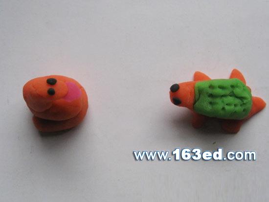 幼儿手工橡皮泥作品:小青蛙