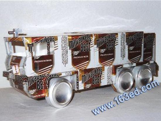 幼儿废旧物品手工制作:纸盒车—儿童手工制作网