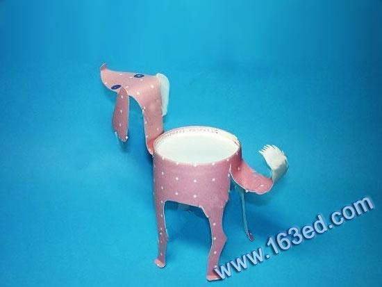 幼儿纸杯手工制作:小狗1