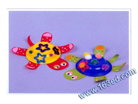 幼儿纸盘手工制作:小乌龟—儿童手工制作网