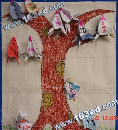 幼儿手工制作(纸工):大树—儿童手工制作网