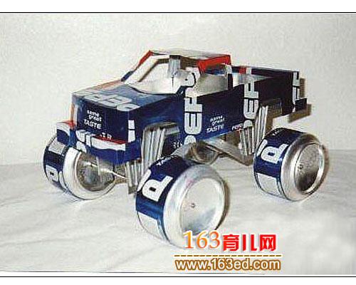 易拉罐手工制作:小卡车2-易拉罐手工 小卡车2图片
