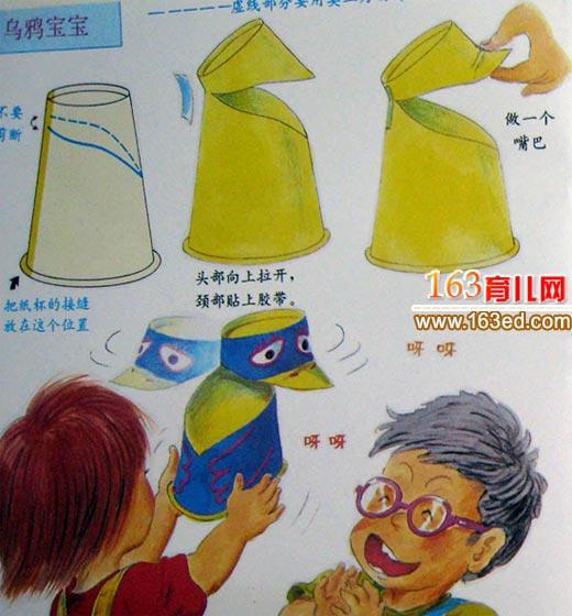 纸杯手工制作:乌鸦玩具—儿童手工制作网