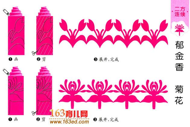 剪纸教程区提供精美剪纸图案大379×227第8页祝寿花的剪纸方法【剪纸