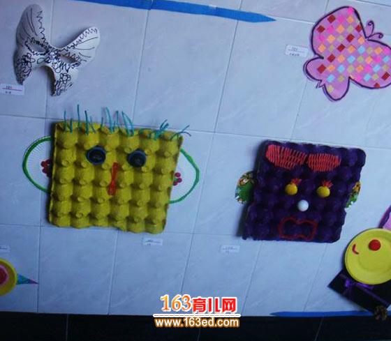 鸡蛋包装做的小动物_儿童废旧物品小手工