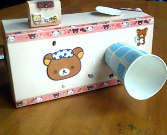 废旧物品手工制作:纸盒照相机