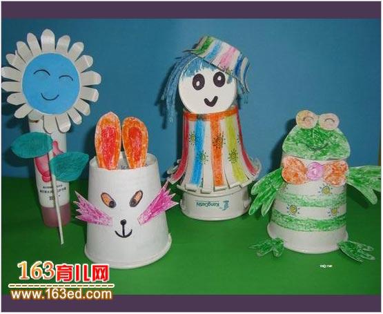 幼儿变废为宝手工 纸杯制作小兔子