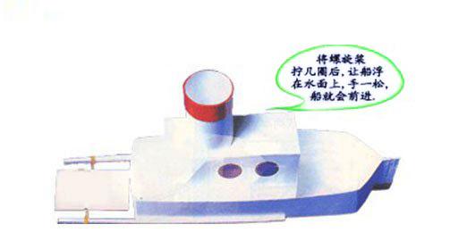 幼儿手工:牛奶盒手工制作轮船
