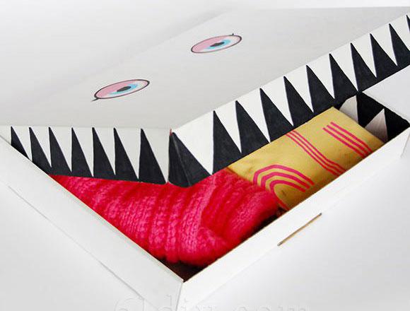 幼儿小手工:废旧纸盒工制作大嘴怪收纳盒—儿童手工