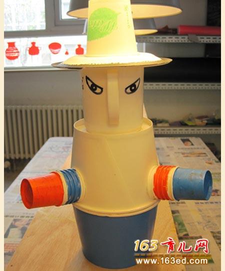 纸盒子小人_纸碗做的小人_儿童手工制作图片—儿童手工制作网