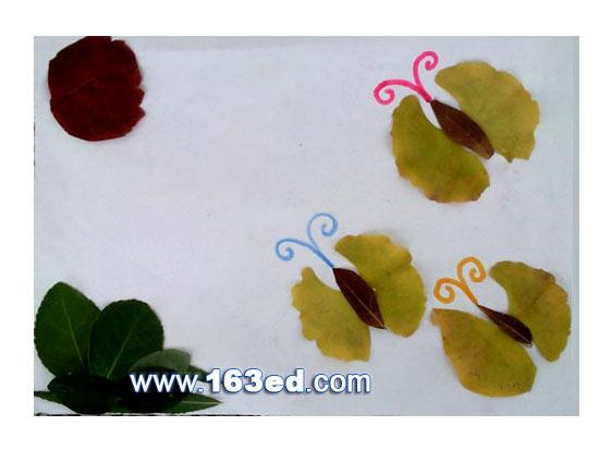 树叶粘贴画昆虫篇 蝴蝶3