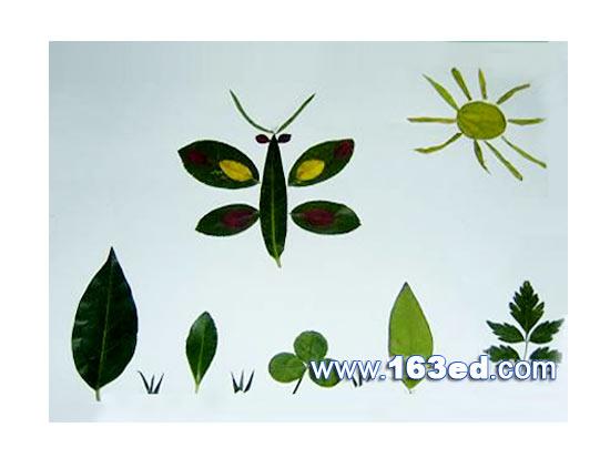 树叶粘贴画昆虫篇 蝴蝶8