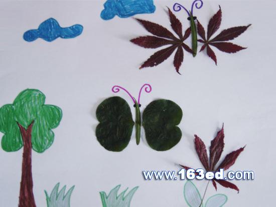 幼儿园小班树叶贴画_幼儿园小班树叶贴画画法